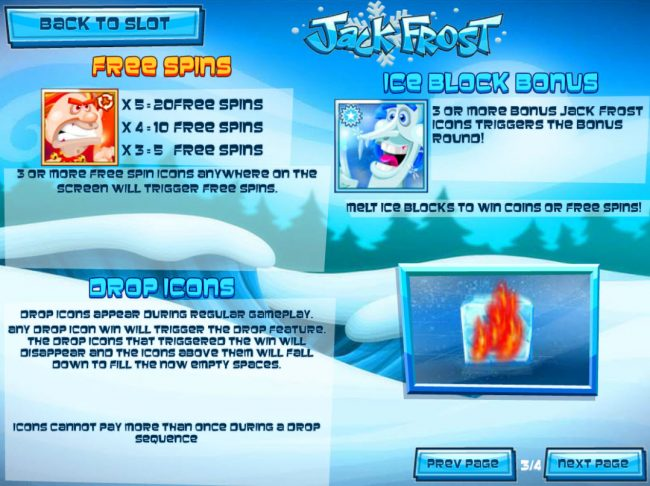 Pantasia featuring the Video Slots Jack Frost with a maximum payout of $31,250