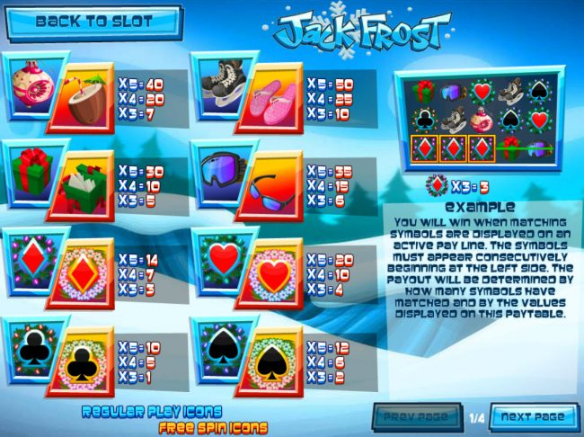 Royal Planet featuring the Video Slots Jack Frost with a maximum payout of $31,250