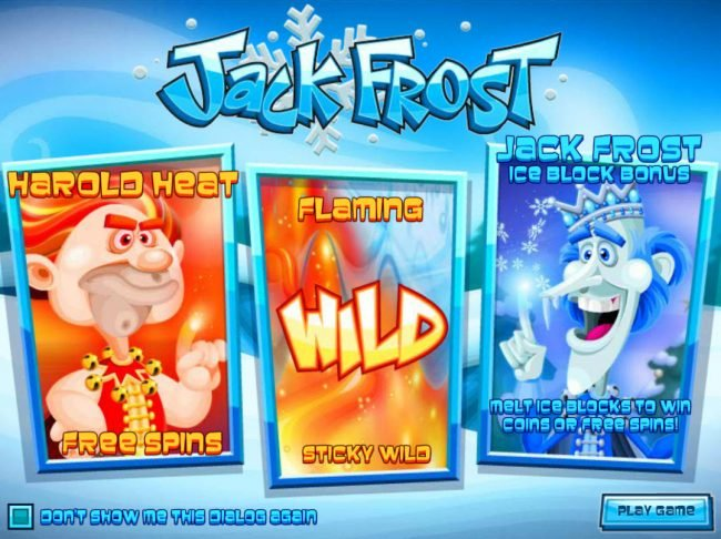 Casino Royal Club featuring the Video Slots Jack Frost with a maximum payout of $31,250