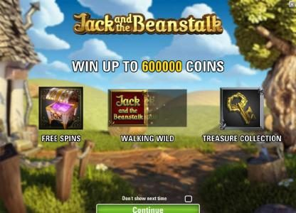 game features - win up to 600000 coins, free spins, walking wild and treasure collection
