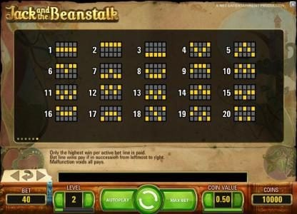 Simba Games featuring the Video Slots Jack and the Beanstalk with a maximum payout of $15,000