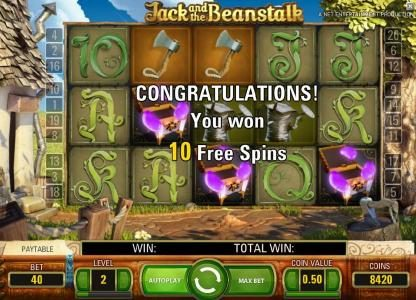 Karamba featuring the Video Slots Jack and the Beanstalk with a maximum payout of $15,000