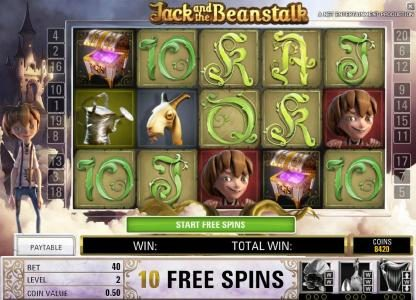 Svedala featuring the Video Slots Jack and the Beanstalk with a maximum payout of $15,000