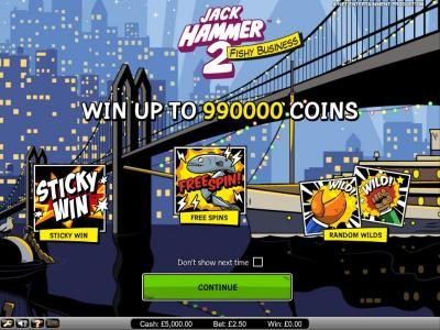 Dublinbet featuring the Video Slots Jack Hammer 2 - Fishy Business with a maximum payout of $495,000