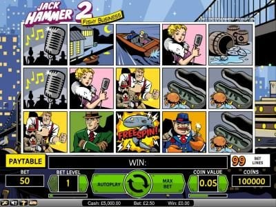 Sapphire Rooms featuring the Video Slots Jack Hammer 2 - Fishy Business with a maximum payout of $495,000