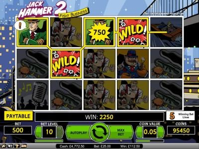 Fun Casino featuring the Video Slots Jack Hammer 2 - Fishy Business with a maximum payout of $495,000