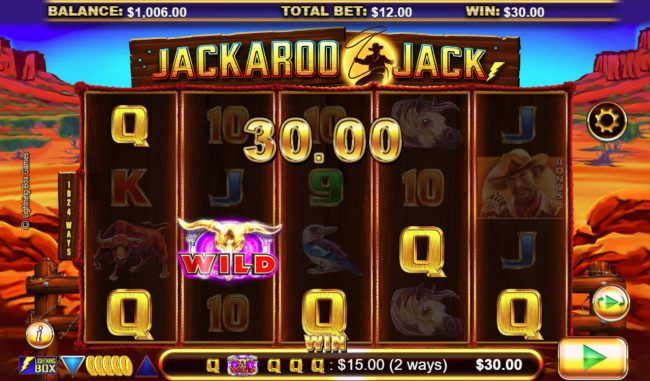 Vera&John featuring the Video Slots Jackaroo Jack with a maximum payout of $61,440