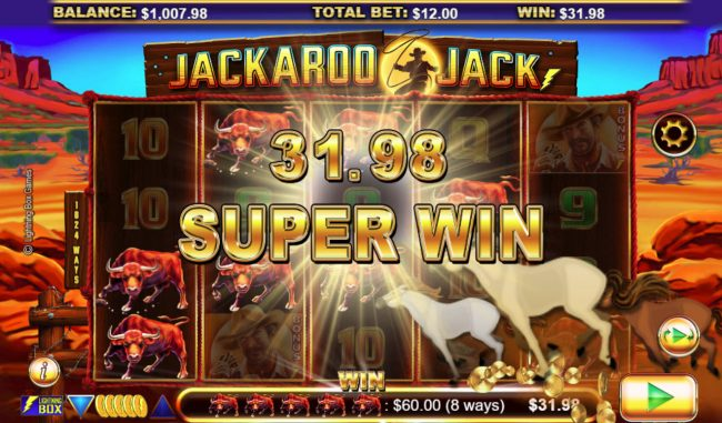 Videoslots featuring the Video Slots Jackaroo Jack with a maximum payout of $61,440