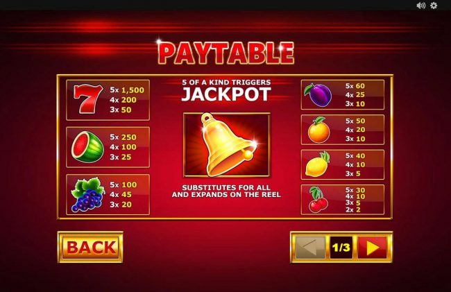 Jackpot Bells :: Paytable