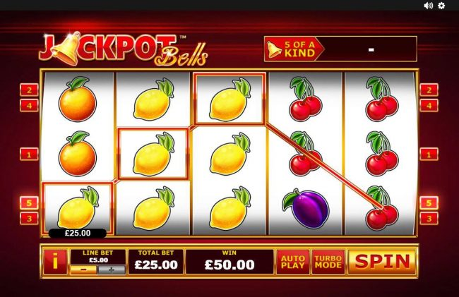 Jackpot Bells :: Multiple winning paylines