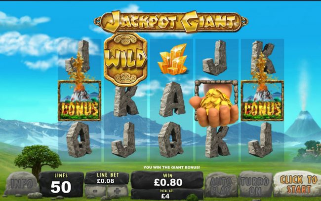 Jackpot Giant :: Scatter win triggers the bonus feature