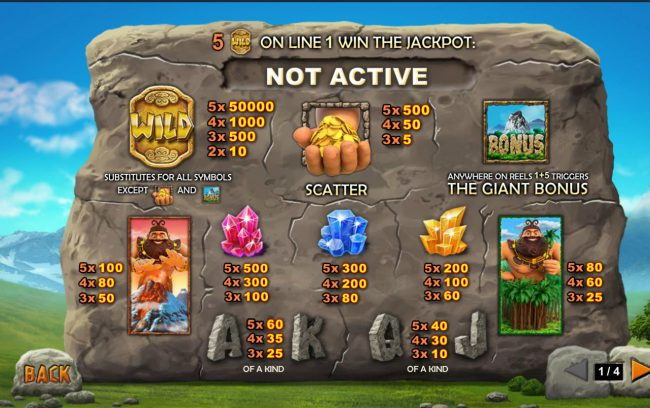 Jackpot Giant :: Paytable