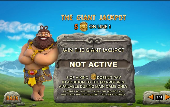 Betfred featuring the Video Slots Jackpot Giant with a maximum payout of Jackpot