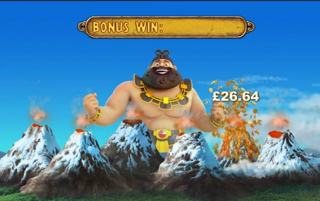 Jackpot Giant :: Pick volcanos to reveal a cash prize