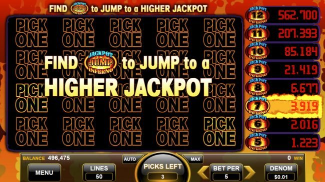 Find a jackpot symbol to jump to a higher jackpot