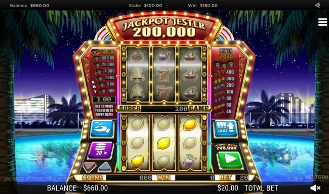 Argo featuring the Video Slots Jackpot Jester 200000 with a maximum payout of $200,000
