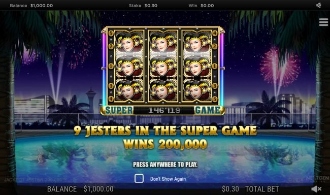 Jackpot Mobile featuring the Video Slots Jackpot Jester 200000 with a maximum payout of $200,000
