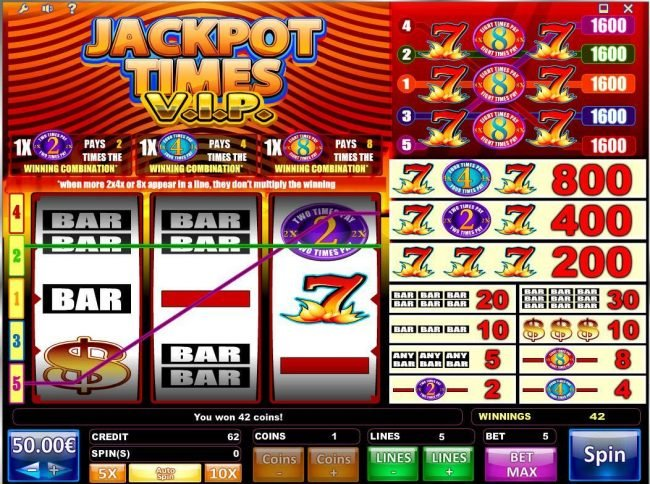 Joe Fortune featuring the Video Slots Jackpot Times VIP with a maximum payout of $80,000