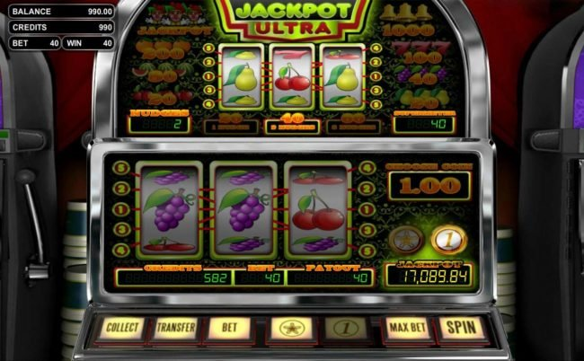 Lock featuring the Video Slots Jackpot Ultra with a maximum payout of Jackpot