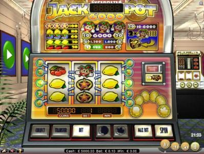 Slots Magic featuring the Video Slots Jackpot 6000 with a maximum payout of $6,000