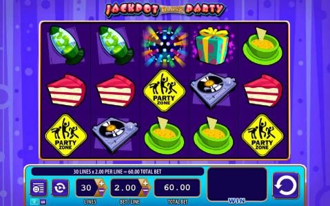 Norske Casino featuring the Video Slots Jackpot Block Party with a maximum payout of $20,000