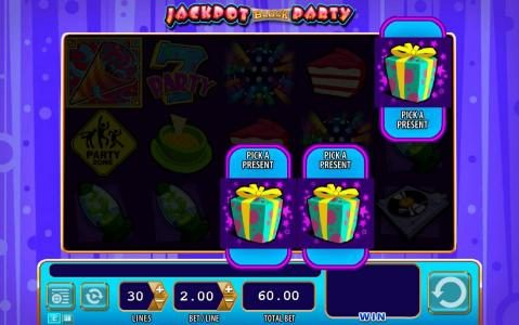 Jackpot Block Party :: pick a prize feature