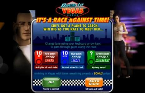 Race to Vegas bonus feature rules