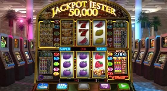 Casino Superlines featuring the Video Slots Jackpot Jester 50,000 with a maximum payout of $100,000