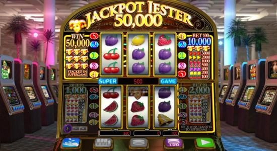 Play the super game (upper Reels) triggers a 400 coin payout