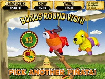 Captain Jacks featuring the Video Slots Jackpot Pinatas with a maximum payout of $12,500