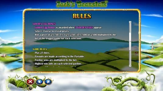 Golden Egg Bonus Rules