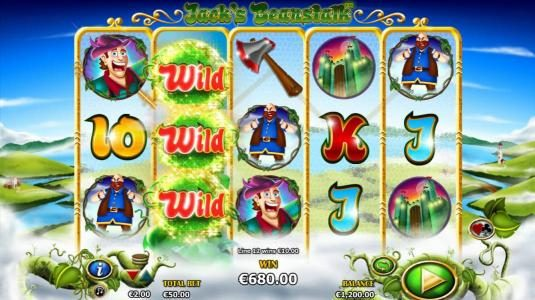 The beanstalk will grow with each reel spin during the free games increasing your chance for greater winnings