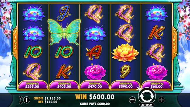Casino States featuring the Video Slots Jade Butterfly with a maximum payout of $20,000