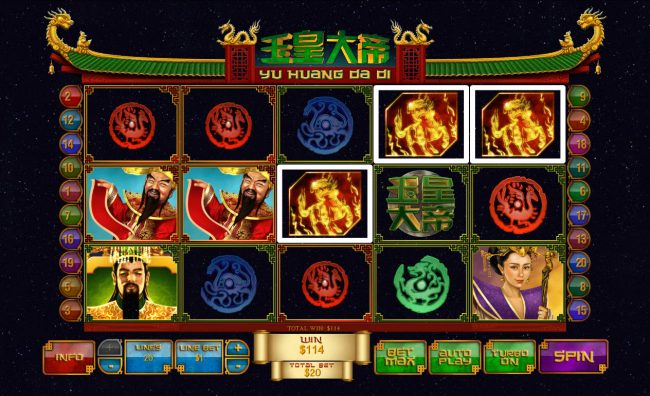 Chips Palace featuring the Video Slots Jade Emperor with a maximum payout of $250,000