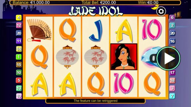 Split Aces featuring the Video Slots Jade Idol Clazzix with a maximum payout of $50,000