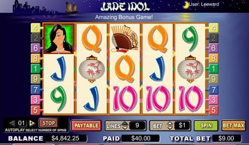 Karamba featuring the video-Slots Jade Idol with a maximum payout of 10,000x