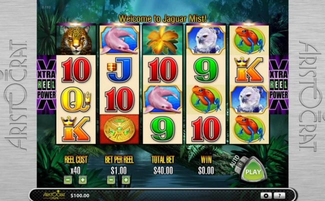Videoslots featuring the Video Slots Jaguar Mist with a maximum payout of $12,000