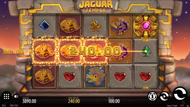 Yoyo featuring the Video Slots Jaguar Temple with a maximum payout of $100,000