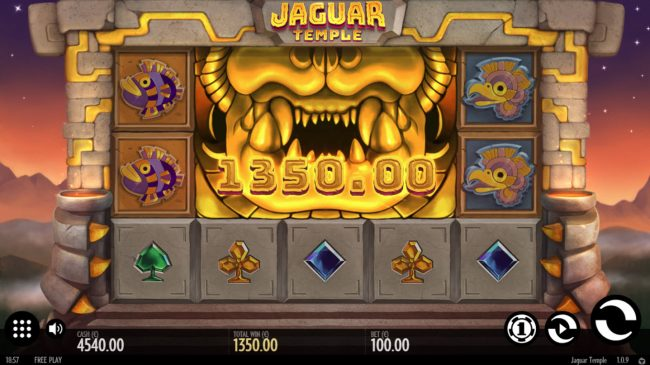Play Club Casino featuring the Video Slots Jaguar Temple with a maximum payout of $100,000