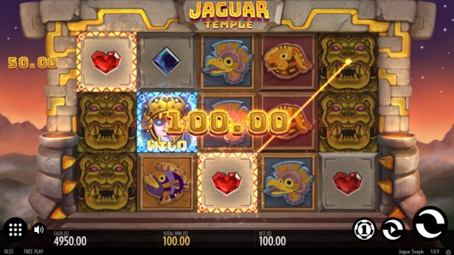 Fun Casino featuring the Video Slots Jaguar Temple with a maximum payout of $100,000