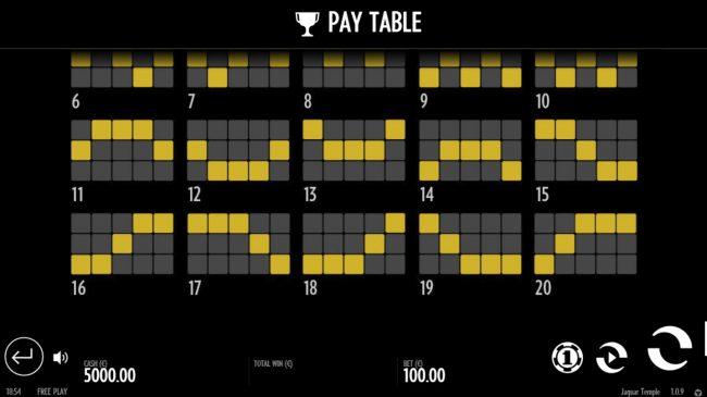 Paylines 11-20