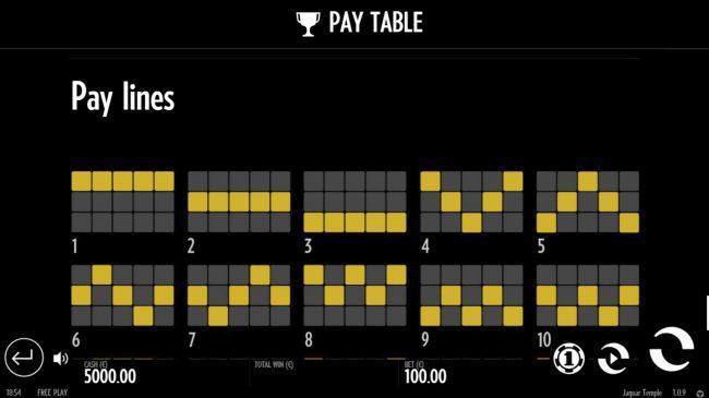 Paylines 1-10