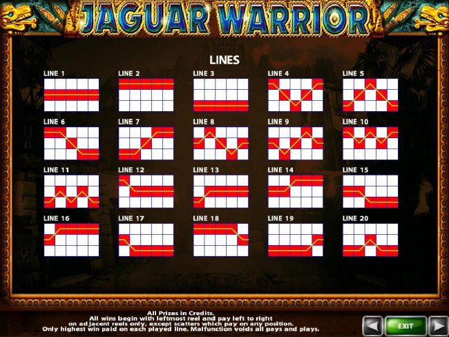 Orientxpress featuring the Video Slots Jaguar Warrior with a maximum payout of $40,000
