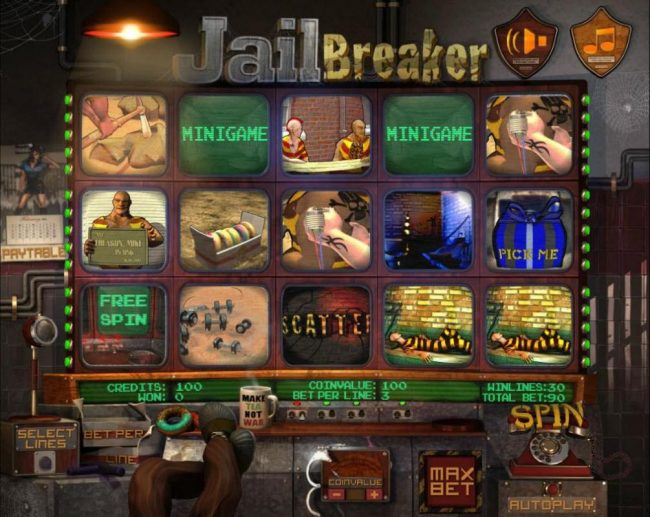 Elegant VIP featuring the Video Slots Jail Breaker with a maximum payout of $15,000