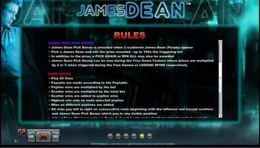 Play slots at Dreamy 7: Dreamy 7 featuring the Video Slots James Dean with a maximum payout of $12,500