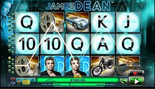CasinoCasino featuring the Video Slots James Dean with a maximum payout of $12,500
