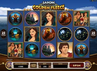 Luxury featuring the Video Slots Jason and the Golden Fleece with a maximum payout of $20,000