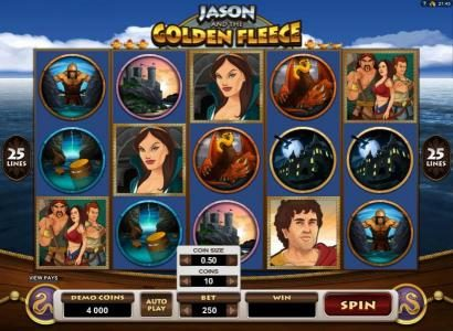 Slots Magic featuring the Video Slots Jason and the Golden Fleece with a maximum payout of $20,000