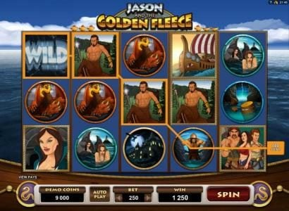 Thrills featuring the Video Slots Jason and the Golden Fleece with a maximum payout of $20,000