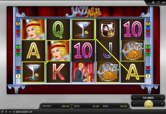 Multiple winning paylines triggers a 160.00 big win!